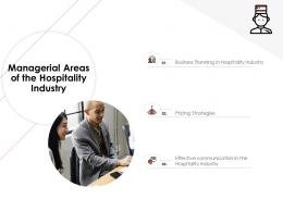 Managerial Areas Of The Hospitality Industry Hotel Management Industry Ppt Professional