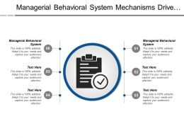 Managerial Behavioral System Mechanisms Drive Continuous Product Service