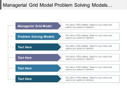 Managerial Grid Model Problem Solving Models Brand Value Model Cpb