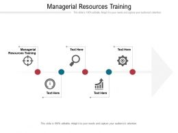 Managerial Resources Training Ppt Powerpoint Presentation Show Graphics Design Cpb