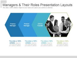 Managers And Their Roles Presentation Layouts
