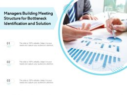 Managers Building Meeting Structure For Bottleneck Identification And Solution