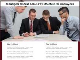 Managers Discuss Bonus Pay Structure For Employees