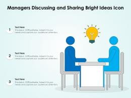 Managers Discussing And Sharing Bright Ideas Icon