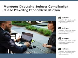 Managers Discussing Business Complication Due To Prevailing Economical Situation