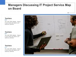 Managers Discussing It Project Service Map On Board