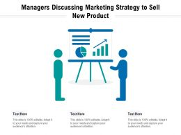Managers Discussing Marketing Strategy To Sell New Product