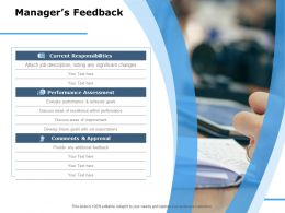 Managers Feedback Comments And Approval Ppt Powerpoint Presentation Model Example