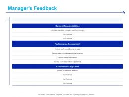 Managers Feedback Comments Ppt Powerpoint Presentation Ideas Design Templates