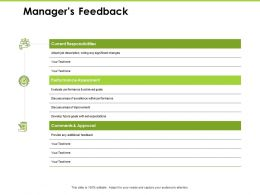 Managers Feedback Responsibilities Ppt Powerpoint Presentation Guidelines