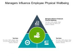 Managers Influence Employee Physical Wellbeing Ppt Powerpoint Presentation Infographics Cpb