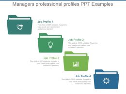 Managers Professional Profiles Ppt Examples