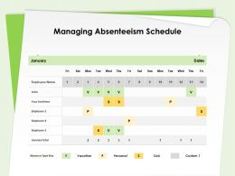 Managing Absenteeism Schedule Employee Name Ppt Powerpoint Presentation Picture