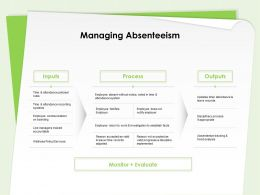 Managing Absenteeism Wellness Policy Services Ppt Powerpoint Presentation Shapes
