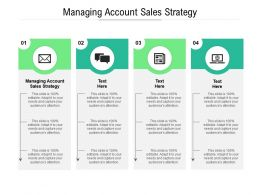 Managing Account Sales Strategy Ppt Powerpoint Presentation Slides Guide Cpb