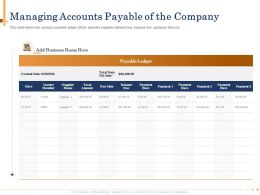 Managing Accounts Payable Of The Company Balance Due Powerpoint Presentation Show