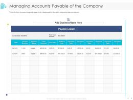 Managing Accounts Payable Of The Company Balance Ppt Powerpoint Presentation Themes