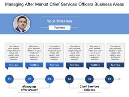 Managing After Market Chief Services Officers Business Areas