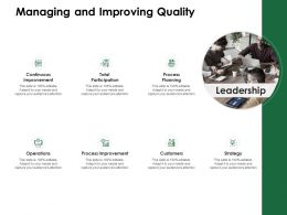 Managing And Improving Quality Continuous Improvement Ppt Powerpoint Example