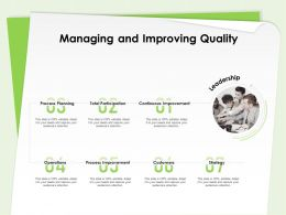 Managing And Improving Quality Continuous Improvement Ppt Presentation Templates