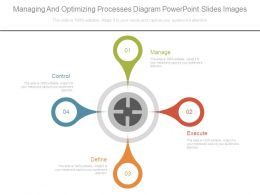 Managing And Optimizing Processes Diagram Powerpoint Slides Images