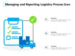 Managing And Reporting Logistics Process Icon