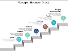 Managing Business Growth Ppt Powerpoint Presentation Styles Portrait Cpb