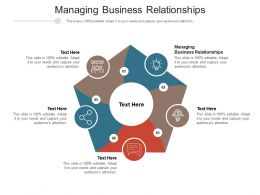 Managing Business Relationships Ppt Powerpoint Presentation Summary Tips Cpb