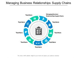 Managing Business Relationships Supply Chains Ppt Powerpoint Presentation Styles Designs Cpb