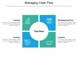 Managing Cash Flow Ppt Powerpoint Presentation Pictures Example Topics Cpb