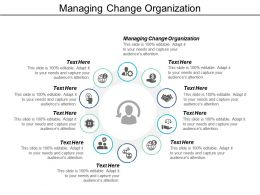 Managing Change Organization Ppt Powerpoint Presentation Infographics Background Cpb