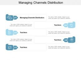 Managing Channels Distribution Ppt Powerpoint Presentation File Images Cpb