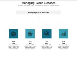 Managing Cloud Services Ppt Powerpoint Presentation Infographics Topics Cpb