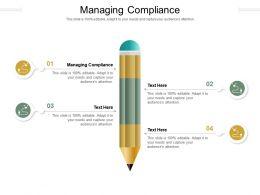 Managing Compliance Ppt Powerpoint Presentation Portfolio Professional Cpb