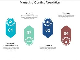 Managing Conflict Resolution Ppt Powerpoint Presentation Show Ideas Cpb