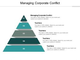 Managing Corporate Conflict Ppt Powerpoint Presentation Layouts Vector Cpb