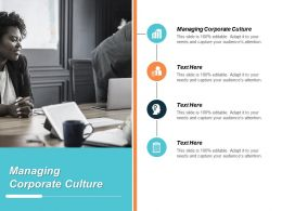Managing Corporate Culture Ppt Powerpoint Presentation Inspiration Portfolio Cpb