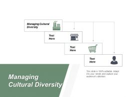 Managing Cultural Diversity Ppt Powerpoint Presentation Diagram Lists Cpb