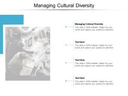 Managing Cultural Diversity Ppt Powerpoint Presentation Summary Icon Cpb