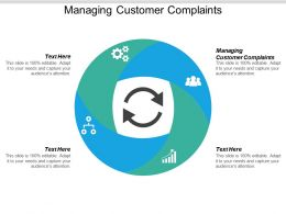 Managing Customer Complaints Ppt Powerpoint Presentation Styles Brochure Cpb