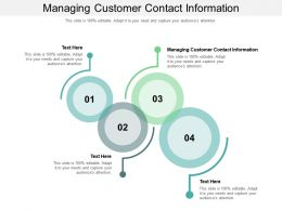 Managing Customer Contact Information Ppt Powerpoint Presentation Outline Slides Cpb