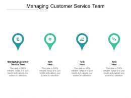 Managing Customer Service Team Ppt Powerpoint Presentation File Model Cpb