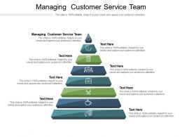 Managing Customer Service Team Ppt Powerpoint Presentation Inspiration Maker Cpb