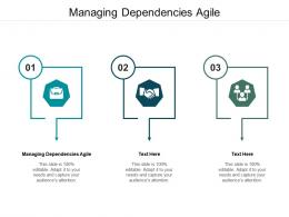 Managing Dependencies Agile Ppt Powerpoint Presentation Icon Designs Download Cpb