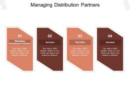 Managing Distribution Partners Ppt Powerpoint Presentation Model Slides Cpb