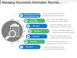 Managing Documents Information Records Corporate Governance Business Process Improvement