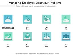 Managing Employee Behaviour Problems Ppt Powerpoint Presentation Slides Introduction Cpb