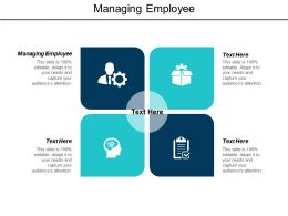 Managing Employee Ppt Powerpoint Presentation Infographics Model Cpb