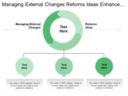 Managing External Changes Reforms Ideas Enhance Leadership Potential