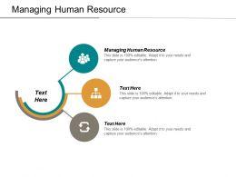 Managing Human Resource Ppt Powerpoint Presentation Model Slides Cpb